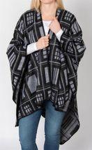 styleBREAKER Poncho mit quadratischem Rechteck Karo Muster, Umhang, Überwurf Cape, Wendeponcho, Damen 08010015 – Bild 14