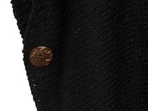 styleBREAKER knitted poncho with sleeves and decorative shimmering knobs, round-necked, ladies 08010017 – Bild 11