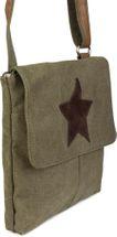 styleBREAKER Canvas Umhängetasche mit aufgenähtem Stern, Schultertasche, Handtasche, Tasche, Unisex 02012056 – Bild 22