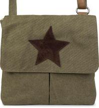 styleBREAKER Canvas Umhängetasche mit aufgenähtem Stern, Schultertasche, Handtasche, Tasche, Unisex 02012056 – Bild 20