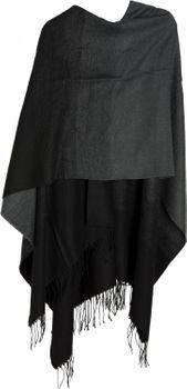styleBREAKER leichter Poncho zweifarbig, Verlauf Muster und Fransen, Umhang, Überwurf Cape, Wendeponcho, Damen 08010018 – Bild 8