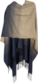 styleBREAKER bi-coloured lightweight poncho, gradient pattern, fringed, drape coat, plaid, reversible poncho, ladies 08010018 – Bild 2