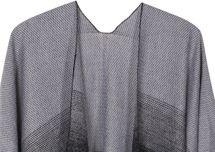 styleBREAKER leichter Poncho zweifarbig, Verlauf Muster und Fransen, Umhang, Überwurf Cape, Wendeponcho, Damen 08010018 – Bild 6
