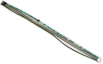 styleBREAKER Wickelarmband mit Ketten und Pfeil, glitzerndes Stoffband, Magnetverschluss Armband, Damen 05040036 – Bild 11