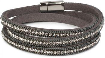 styleBREAKER Wickelarmband mit Strass und Kette, Magnetverschluss Armband, Glitzersteine, Damen 05040038 – Bild 7