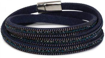 styleBREAKER Wickelarmband mit Strass und Kette, Magnetverschluss Armband, Glitzersteine, Damen 05040038 – Bild 6