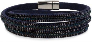 styleBREAKER Wickelarmband mit Strass und Kette, Magnetverschluss Armband, Glitzersteine, Damen 05040038 – Bild 14
