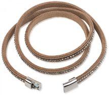 styleBREAKER Wickelarmband mit Strass und Kette, Magnetverschluss Armband, Glitzersteine, Damen 05040038 – Bild 20