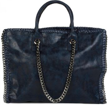 styleBREAKER vintage rock style shopper handbag with chain, sling bag, tote bag, bag, ladies 02012057 – Bild 12