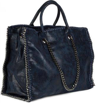 styleBREAKER vintage rock style shopper handbag with chain, sling bag, tote bag, bag, ladies 02012057 – Bild 13
