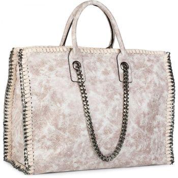 styleBREAKER vintage rock style shopper handbag with chain, sling bag, tote bag, bag, ladies 02012057 – Bild 26