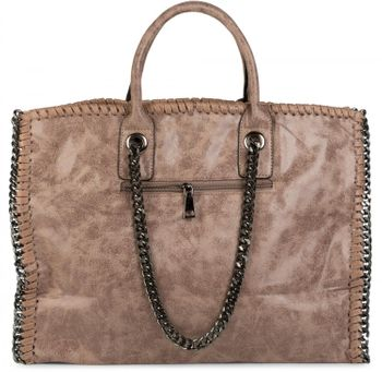 styleBREAKER vintage rock style shopper handbag with chain, sling bag, tote bag, bag, ladies 02012057 – Bild 4