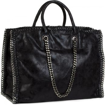 styleBREAKER vintage rock style shopper handbag with chain, sling bag, tote bag, bag, ladies 02012057 – Bild 16