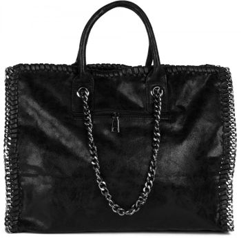 styleBREAKER vintage rock style shopper handbag with chain, sling bag, tote bag, bag, ladies 02012057 – Bild 20