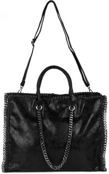 styleBREAKER vintage rock style shopper handbag with chain, sling bag, tote bag, bag, ladies 02012057 – Bild 19