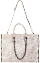 styleBREAKER vintage rock style shopper handbag with chain, sling bag, tote bag, bag, ladies 02012057 – Bild 29