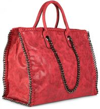 styleBREAKER vintage rock style shopper handbag with chain, sling bag, tote bag, bag, ladies 02012057 – Bild 33