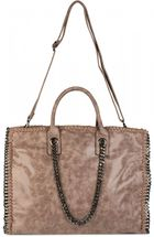 styleBREAKER vintage rock style shopper handbag with chain, sling bag, tote bag, bag, ladies 02012057 – Bild 5