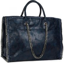 styleBREAKER vintage rock style shopper handbag with chain, sling bag, tote bag, bag, ladies 02012057 – Bild 11