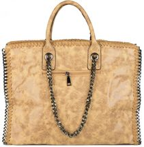 styleBREAKER vintage rock style shopper handbag with chain, sling bag, tote bag, bag, ladies 02012057 – Bild 10