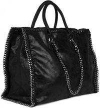 styleBREAKER vintage rock style shopper handbag with chain, sling bag, tote bag, bag, ladies 02012057 – Bild 18