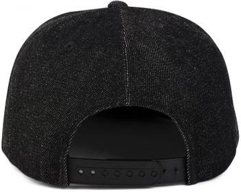 styleBREAKER Snapback Cap im Denim Style, Jeansstoff Optik, Baseball Cap, verstellbar, Unisex 04023041 – Bild 4