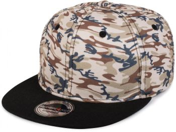 styleBREAKER Snapback Cap mit Camouflage Print, Baseball Cap, verstellbar, Unisex 04023045 – Bild 2