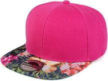 styleBREAKER snapback cap with flower print on the visor, baseball cap, adjustable, unisex 04023044 – Bild 1