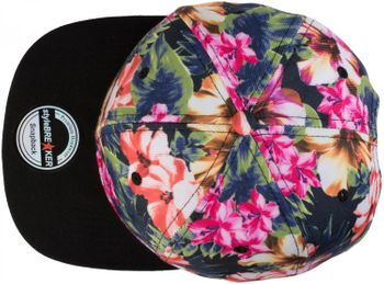 styleBREAKER snapback cap with flower print, baseball cap, adjustable, unisex 04023047 – Bild 2