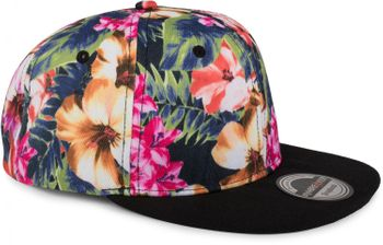 styleBREAKER snapback cap with flower print, baseball cap, adjustable, unisex 04023047 – Bild 5