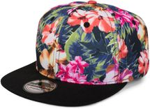 styleBREAKER snapback cap with flower print, baseball cap, adjustable, unisex 04023047 – Bild 1