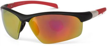 styleBREAKER Sport Sonnenbrille mit Polycarbonat Gläsern, verspiegelt und getönt, Halbrand Sportbrille, Unisex 09020060 – Bild 2