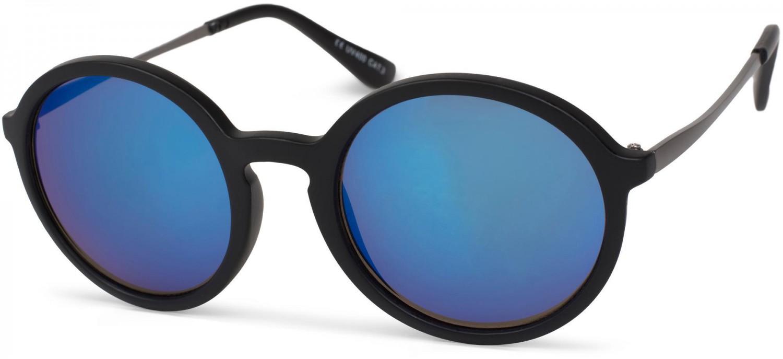 sonnenbrille mit runden gl sern kunststoffrahmen 742. Black Bedroom Furniture Sets. Home Design Ideas