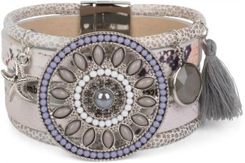 styleBREAKER bracelet with ethno amulet decorated with pearls and rhinestone, starfish pendant, tassel, magnetic closure, ladies 05040045 – Bild 5