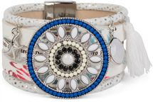 styleBREAKER bracelet with ethno amulet decorated with pearls and rhinestone, starfish pendant, tassel, magnetic closure, ladies 05040045 – Bild 4