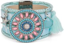styleBREAKER bracelet with ethno amulet decorated with pearls and rhinestone, starfish pendant, tassel, magnetic closure, ladies 05040045 – Bild 6