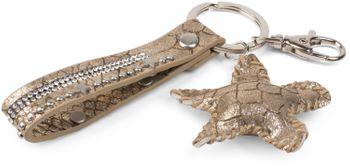 styleBREAKER Schlüsselanhänger mit Strass, Nieten und Stern Anhänger, Befestigungsring, Karabiner, Damen 05050013 – Bild 9