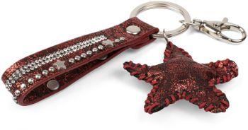 styleBREAKER Schlüsselanhänger mit Strass, Nieten und Stern Anhänger, Befestigungsring, Karabiner, Damen 05050013 – Bild 8