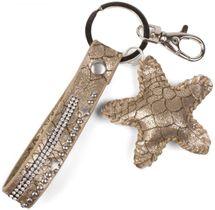 styleBREAKER Schlüsselanhänger mit Strass, Nieten und Stern Anhänger, Befestigungsring, Karabiner, Damen 05050013 – Bild 1