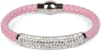 styleBREAKER braided bracelet with rhinestone and magnetic closure, ladies 05040047 – Bild 13