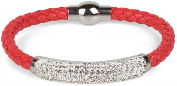styleBREAKER braided bracelet with rhinestone and magnetic closure, ladies 05040047 – Bild 21