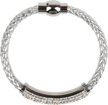 styleBREAKER braided bracelet with rhinestone and magnetic closure, ladies 05040047 – Bild 16