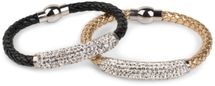 styleBREAKER braided bracelet with rhinestone and magnetic closure, ladies 05040047 – Bild 29