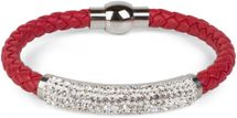 styleBREAKER braided bracelet with rhinestone and magnetic closure, ladies 05040047 – Bild 9