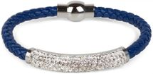 styleBREAKER braided bracelet with rhinestone and magnetic closure, ladies 05040047 – Bild 17