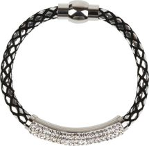 styleBREAKER braided bracelet with rhinestone and magnetic closure, ladies 05040047 – Bild 26