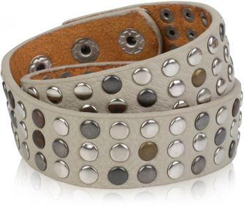styleBREAKER Wickelarmband mit Nieten im Vintage Style, Nietenarmband, Armband, Unisex 05040050 – Bild 5