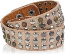 styleBREAKER Wickelarmband mit Nieten im Vintage Style, Nietenarmband, Armband, Unisex 05040050 – Bild 7
