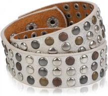 styleBREAKER Wickelarmband mit Nieten im Vintage Style, Nietenarmband, Armband, Unisex 05040050 – Bild 4