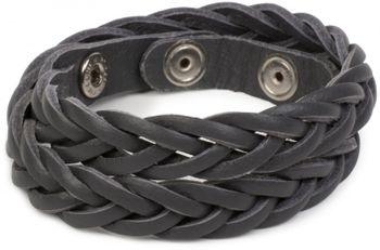 styleBREAKER Leder Armband in Flecht-Optik, Vintage Style, Lederarmband, Unisex 05040053 – Bild 10